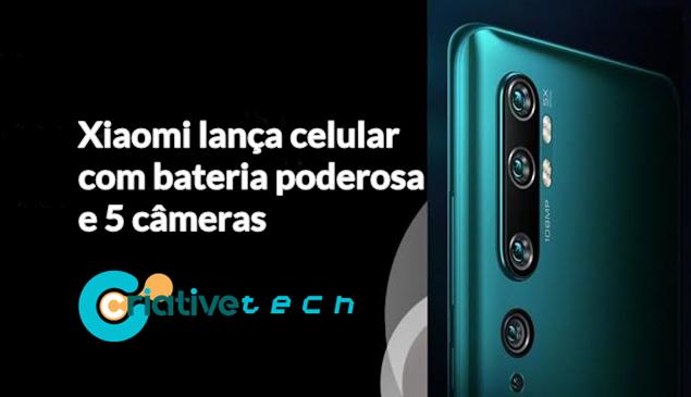Xiaomi lança celular com bateria poderosa e 5 câmeras