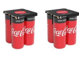Coca-Cola substitui latinhas de plástico por papel
