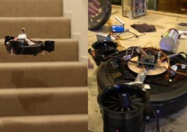 Robô aspirador pode 'voar' para limpar lugares altos