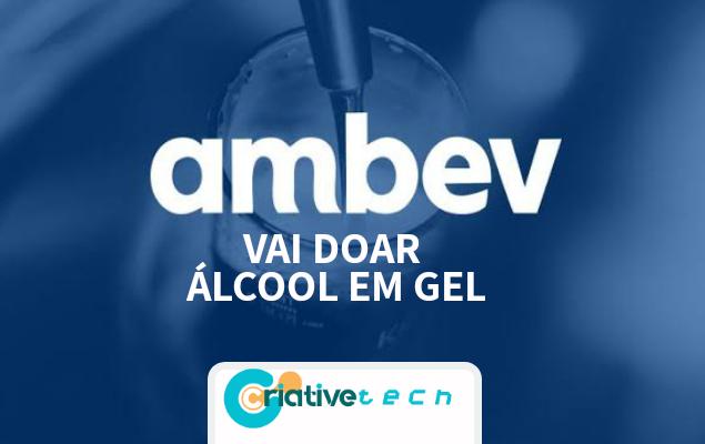 Ambev vai doar 500 mil unidades de álcool em gel