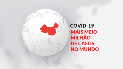Coronavírus: passam de meio milhão o número de casos no mundo