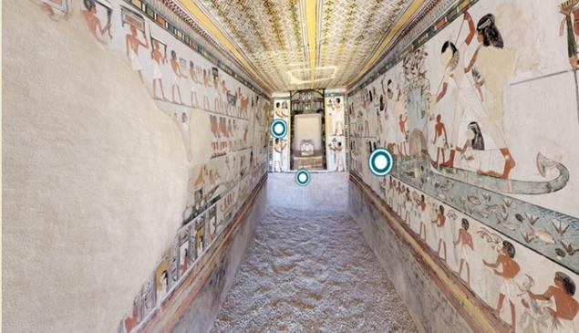 Quarentena: tumbas do Egito ganham tour virtual para visitas