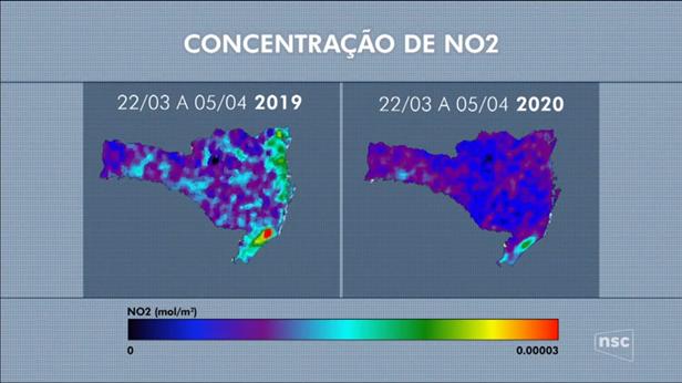 Qualidade do ar melhorou em Santa Catarina devido a quarentena