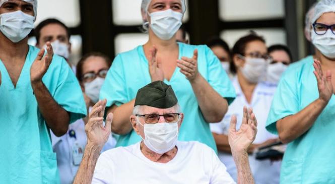 Coronavírus: 55% dos pacientes no Brasil com covid-19 já se curaram