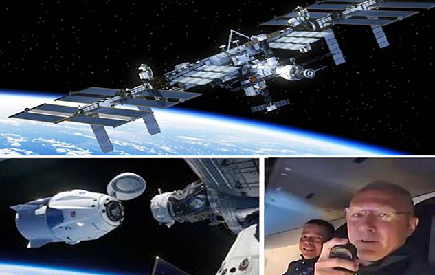 SpaceX: Cápsula com astronautas chega à estação espacial