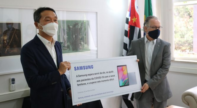Coronavírus: Samsung doa tablets para pacientes no HC