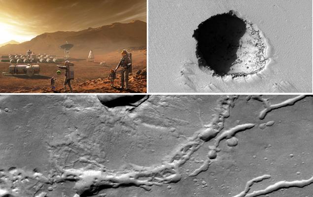 Colônia em Marte: túneis de lava podem servir de abrigo