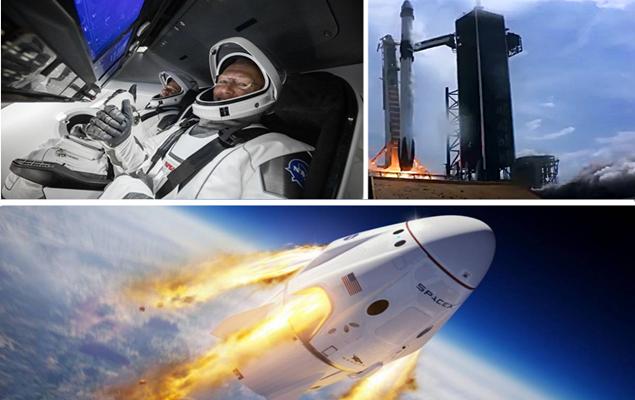 SpaceX lança com sucesso seu foguete tripulado ao espaço