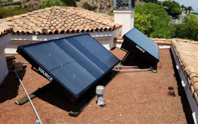 Paínel de energia solar transforma vapor em água